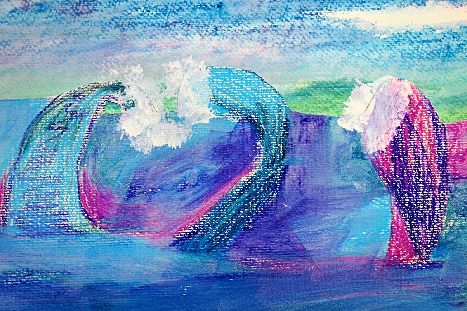 Wave Painting, Jane 6 years