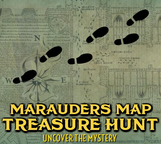 MARAUDERS MAP TREASURE HUNT