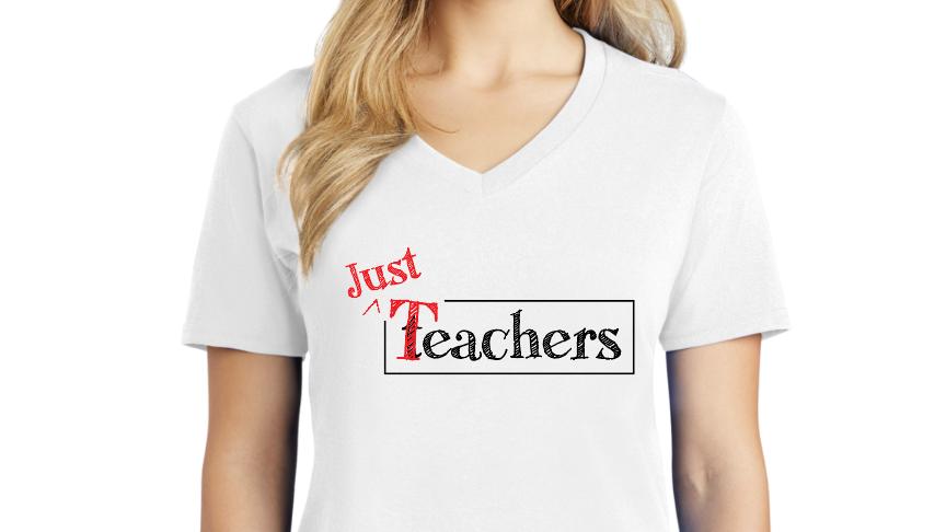 Just Teachers- Women's V Neck