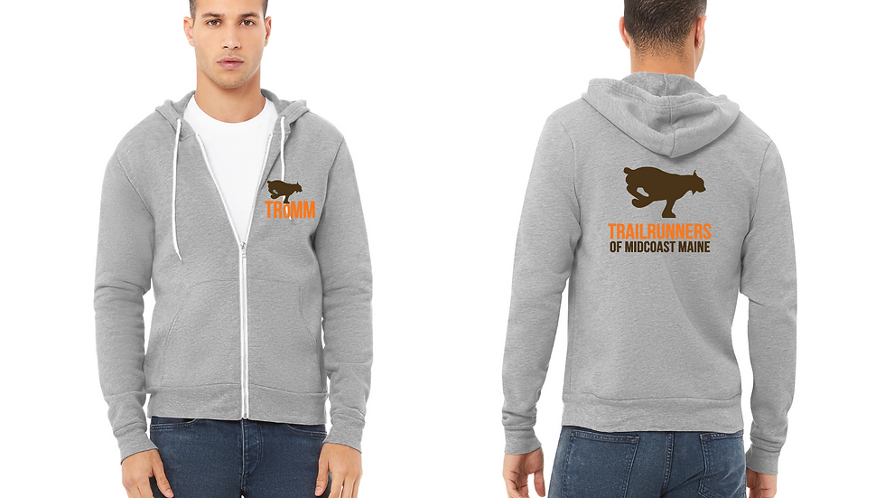Grey Sweatshirt w/ Printed Front & Back