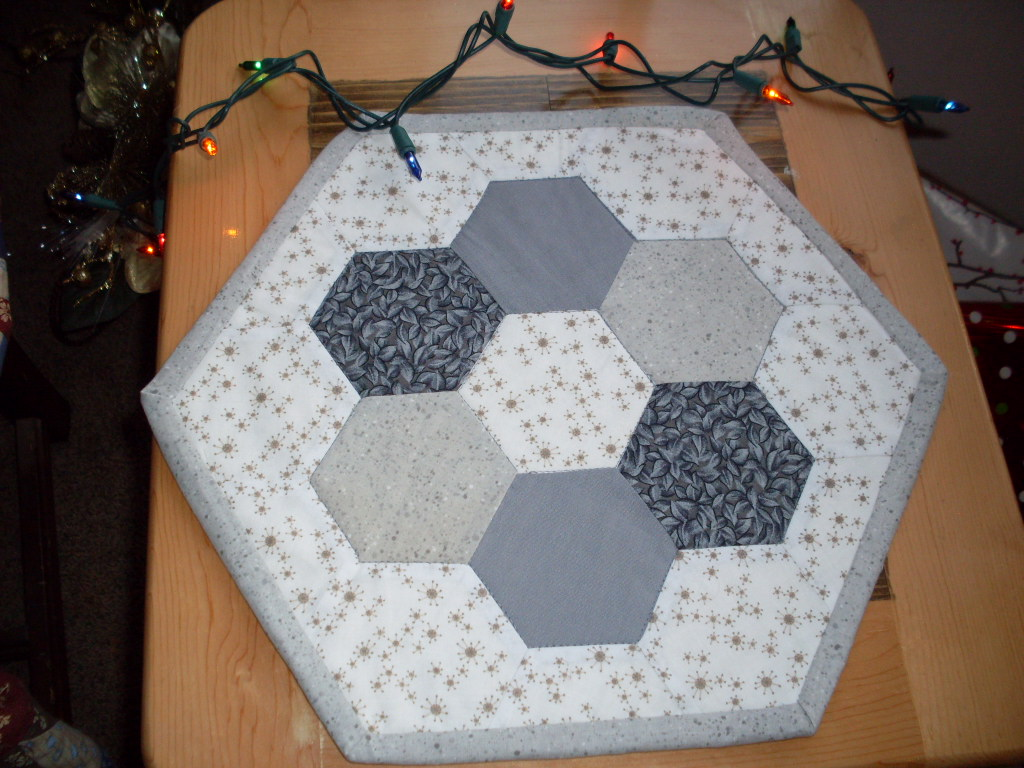 Grey Table Topper