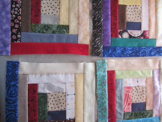 Unfinished Log Cabin Quilt Blocks