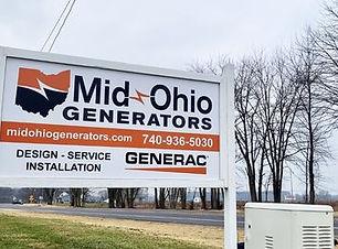 Mid Ohio Generators Sunbury Ohio Sign