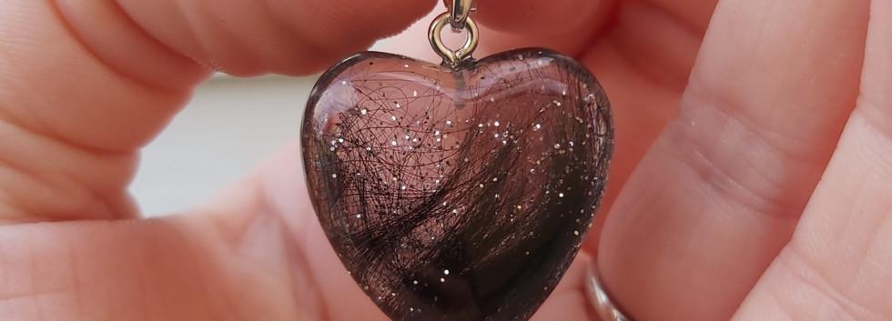 Hjertevedhæng med sølv