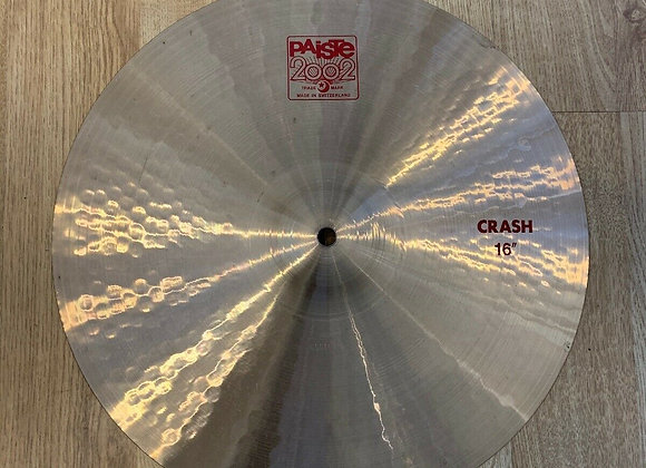 "Paiste 2002 16"" Crash Cymbal #220"