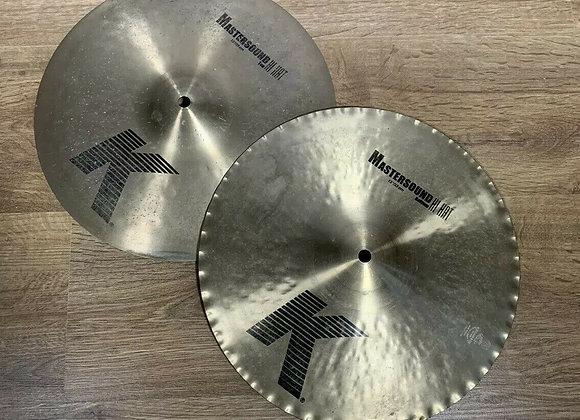 "Zildjian k 13"" Mastersound Hi Hat Cymbals #270"