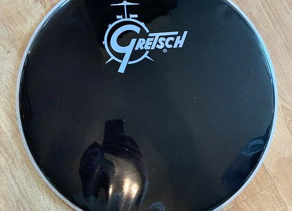 "Gretsch Bass Drum Head 22"" Black Logo #227"