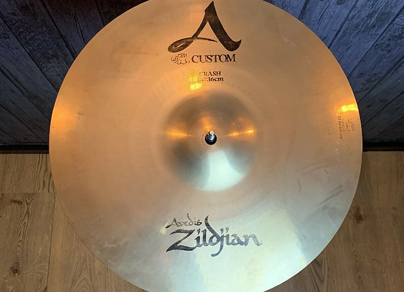 "Zildjian A Custom 14"" Crash Cymbal #239"