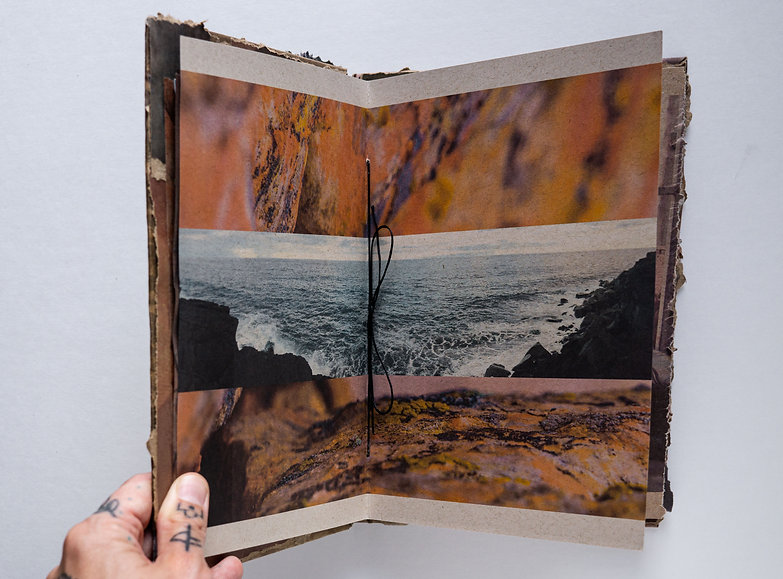 Image of book spread from Change by Jessica Tevik