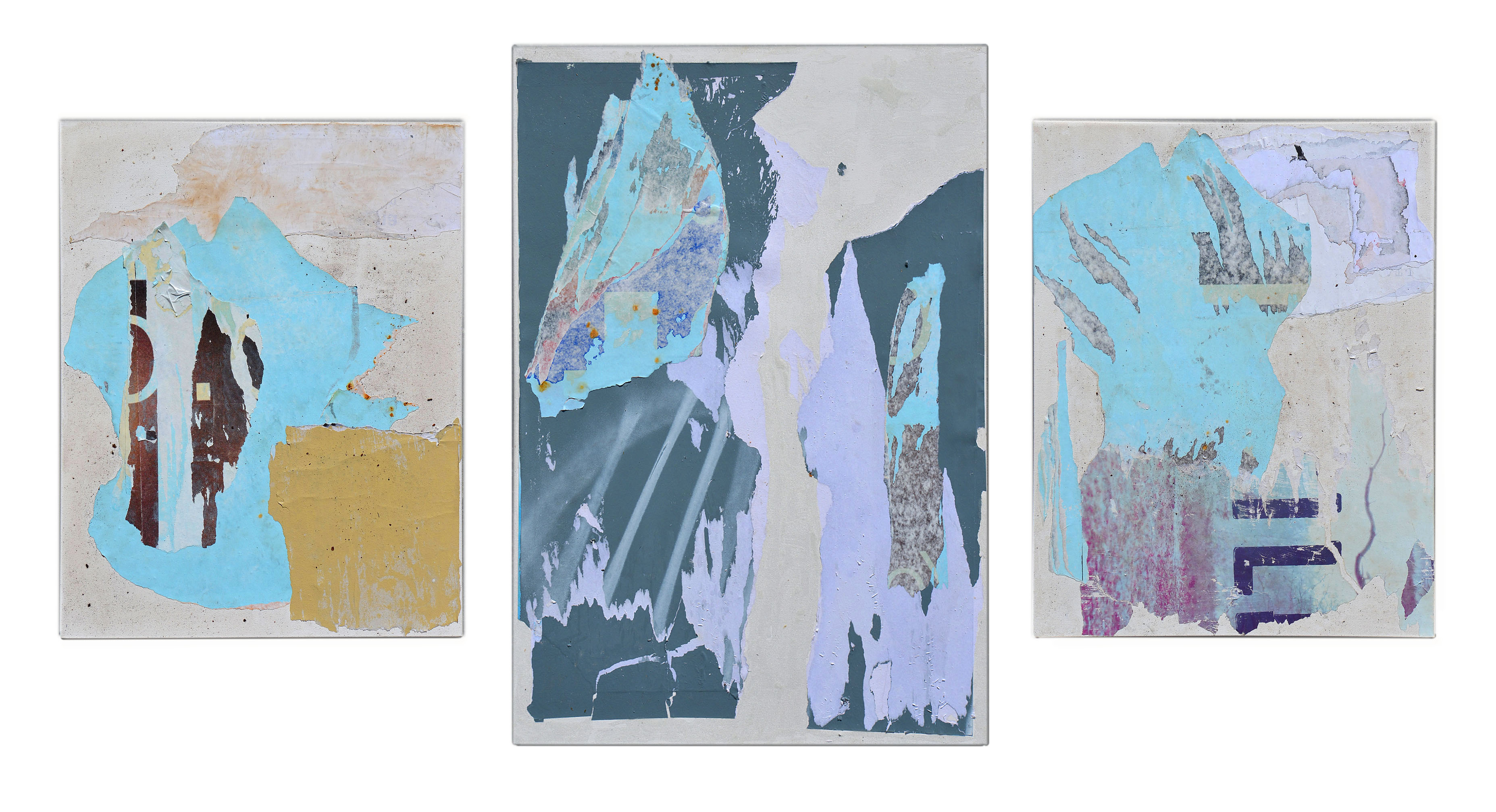 "horses  set of 3=40""x88"" summer 2014"