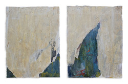 """icebergs. set of 2 each 40"""" x 30"""" from January 2021"""