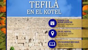 Tefilá en el Kotel Rosh Jodesh Shvat
