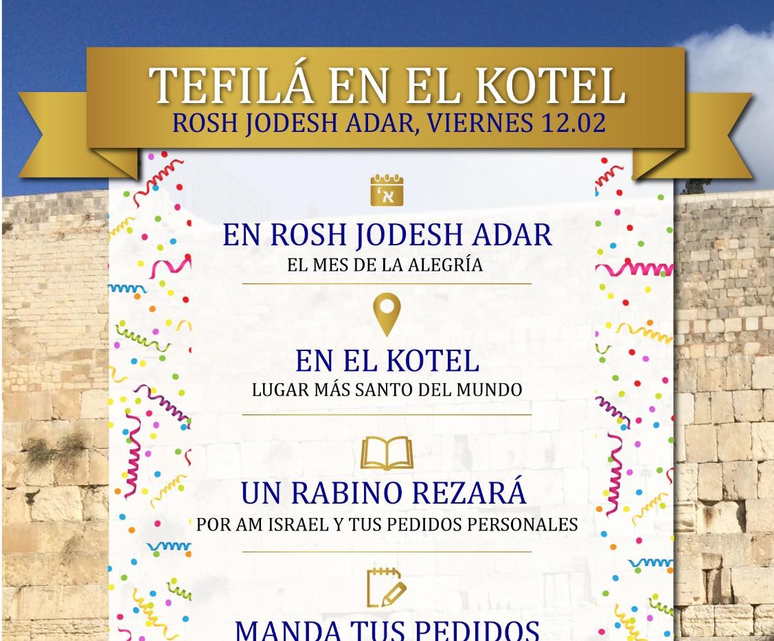 Tefilá en el Kotel Rosh Jodesh Adar