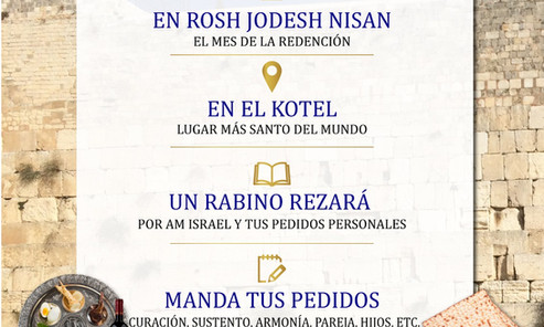 Tefilá en el Kotel Rosh Jodesh Nisá