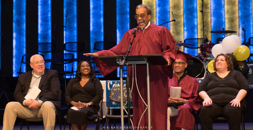 Ed Colvin gives commencement speech