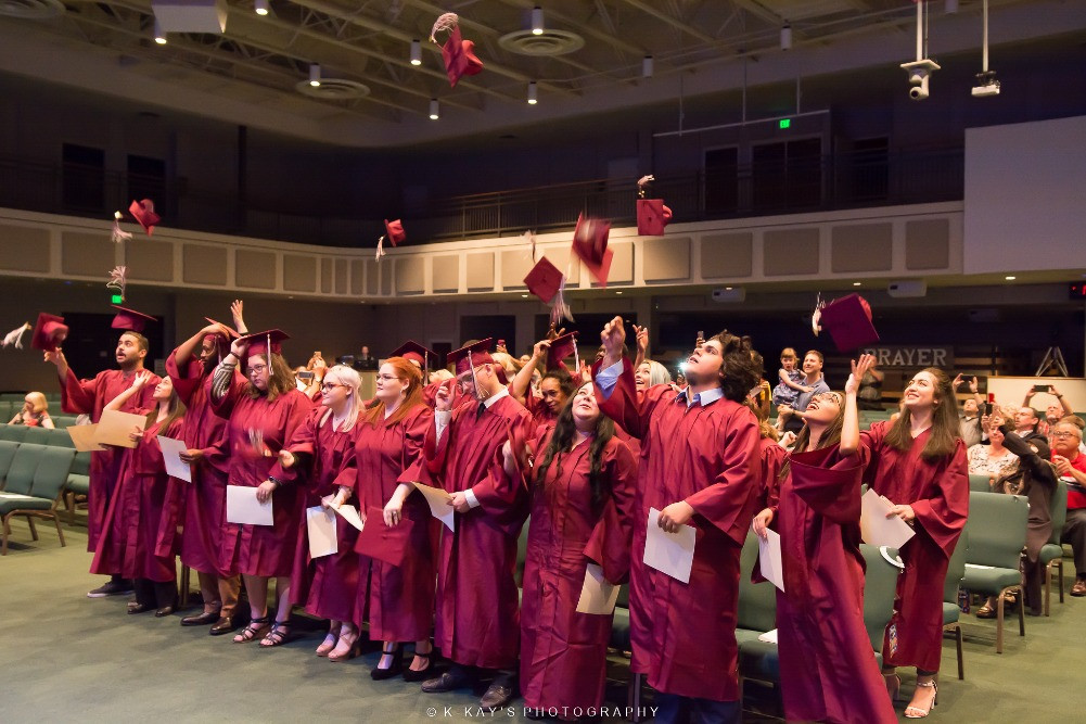 Throwing the caps and gowns