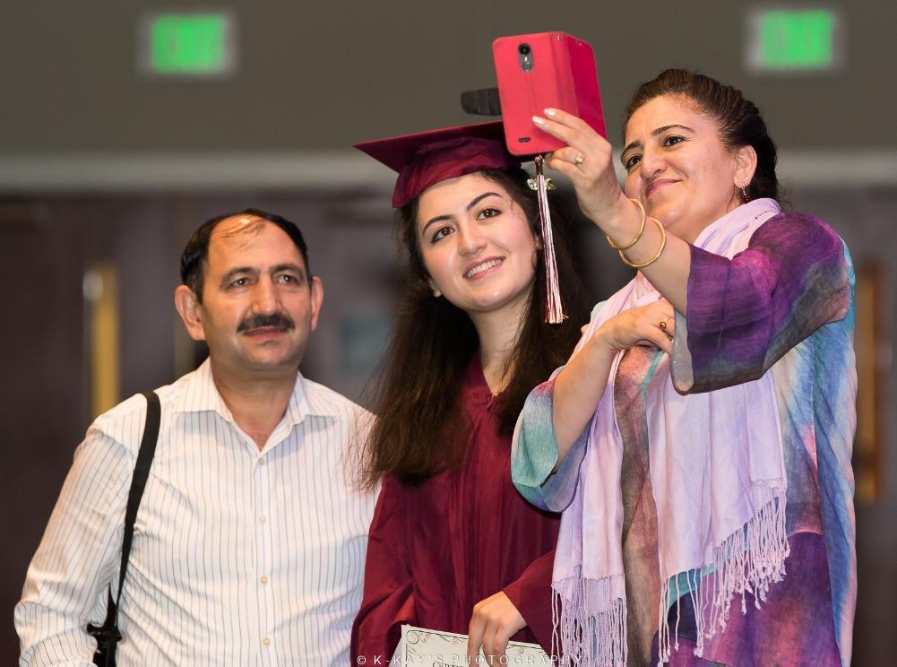 celebrating graduation