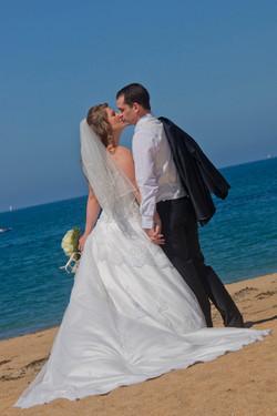 bisou de mariage
