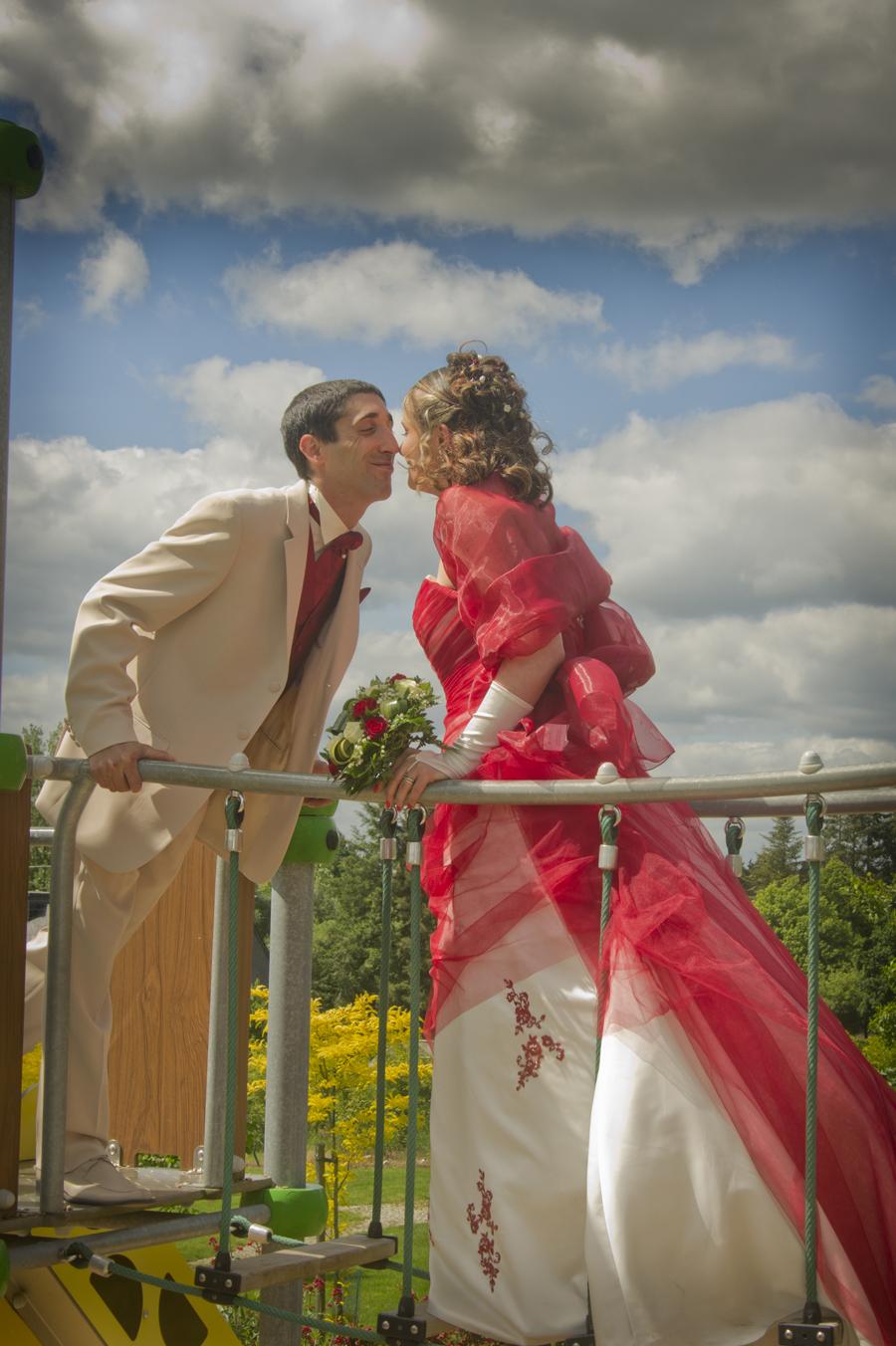 mariage sur un pont