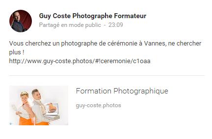 Voici le lien de mon premier post sur ma page Google+