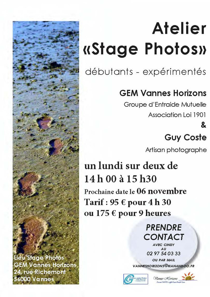 Atelier Photo au GEM Vannes Horizons