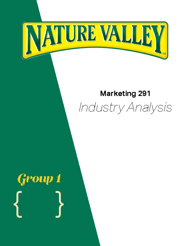 Nature Valley Cover Page