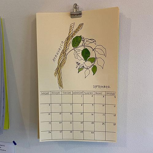 Hallucinogenic Plant A Month Calendar 2021