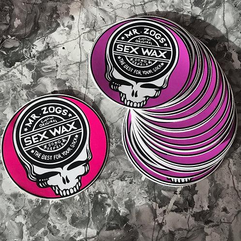 Bong Repair Sex Wax Sticker (5 inch diameter)