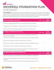 UniversalPlanFoundation_Checklist_Teache