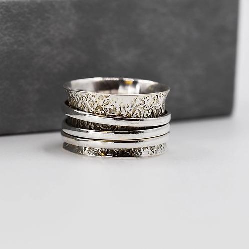 'Roxy' Sterling Silver spinning ring