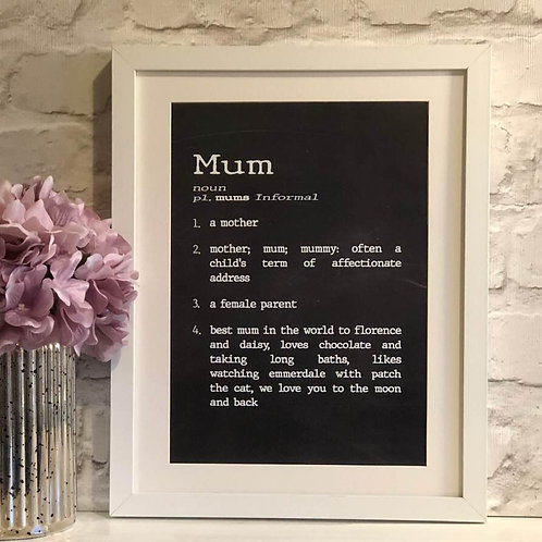 Mum Dictionary Print