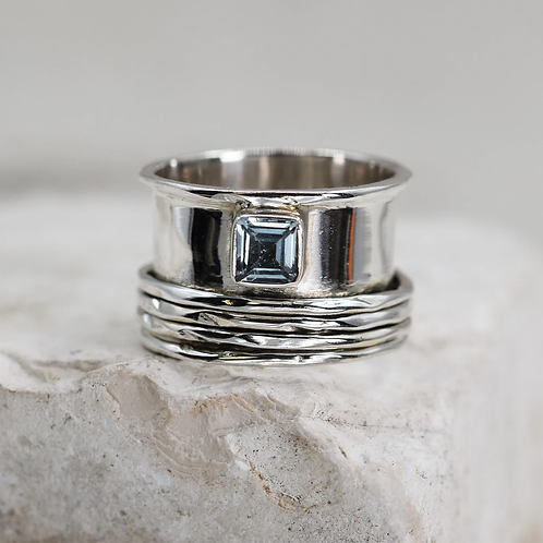 'Charlotte' Sterling Silver spinning ring