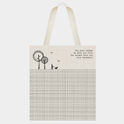 East of India Shopping Bag -The Best Things in Life....