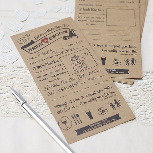 ADVICE FOR THE BRIDE & GROOM CARDS - VINTAGE AFFAIR by Ginger Ray