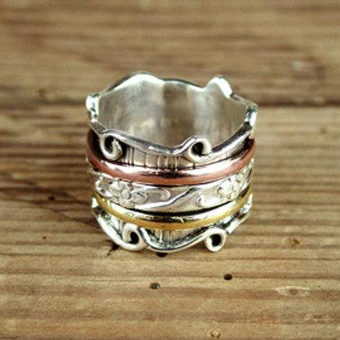'Tori' Sterling Silver spinning ring