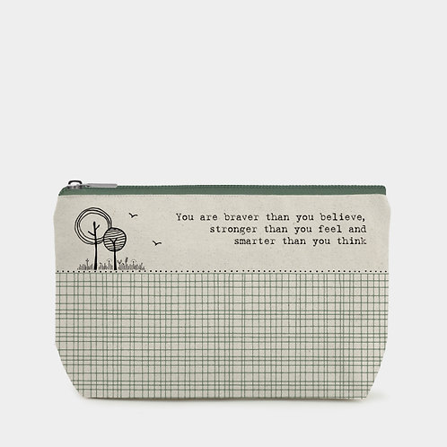 East of India Toiletry Bag - You are braver.....
