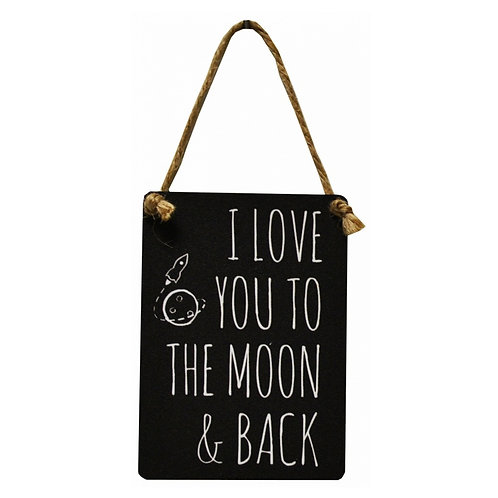 Love You To The Moon & Back Mini Metal Dangler