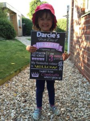 First Day of School Printed Chalkboard Style Sign