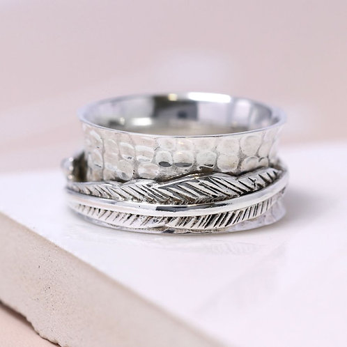 'Amy' Sterling Silver spinning ring