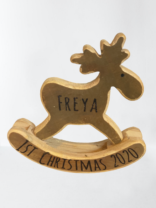 Personalised Rocking Reindeer