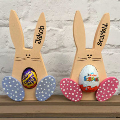 Personalised Easter Bunny for Chocolate Egg