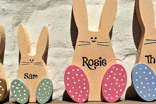 Cute Personalised Wooden Bunny
