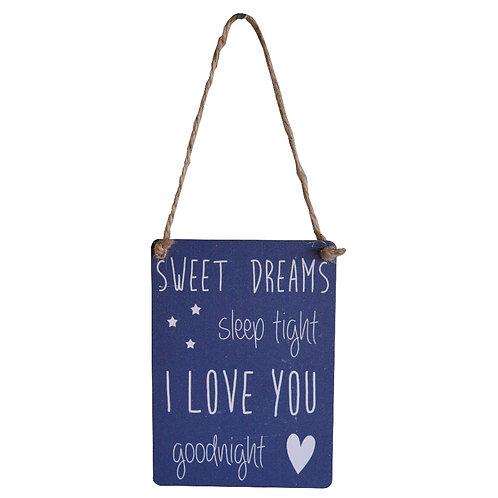 Sweet Dreams Goodnight Mini Metal Sign