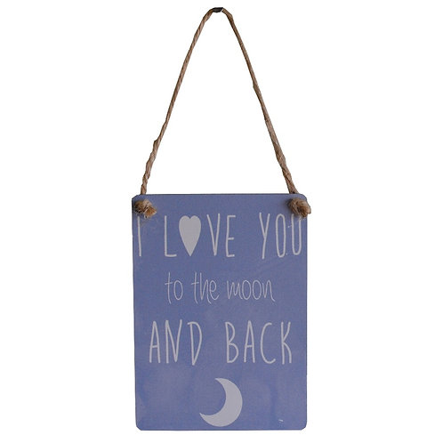Love You to the Moon & Back Mini Metal Sign