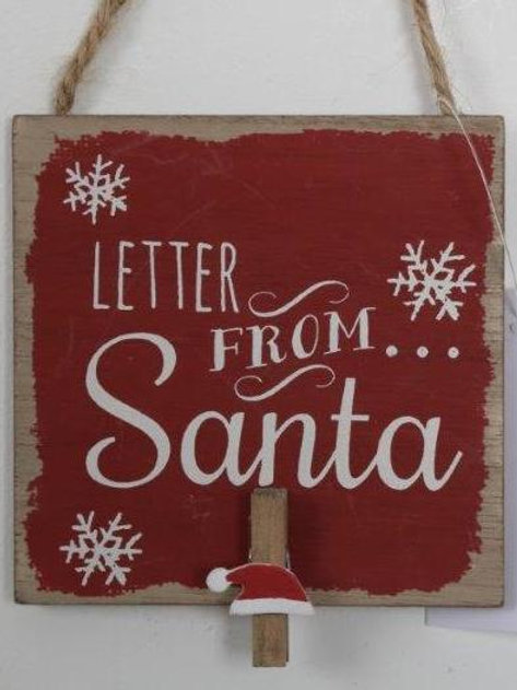 Letter from Santa mini clip board