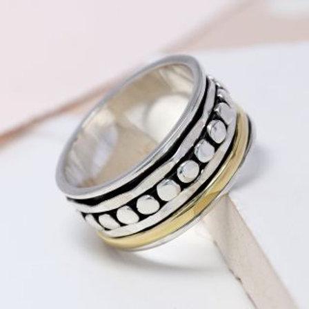 'Jasmine' Sterling Silver spinning ring