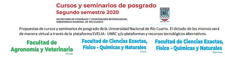 Cursos y seminarios de posgrado en Rio I