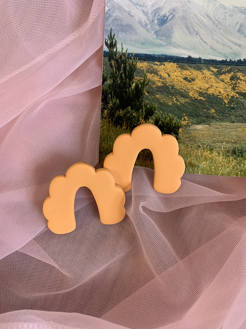 tangerine dream scalloped arch studs