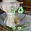 Thumbnail: green gingham pear with cutout