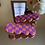 Thumbnail: purple and orange checkered bubble barrette duo